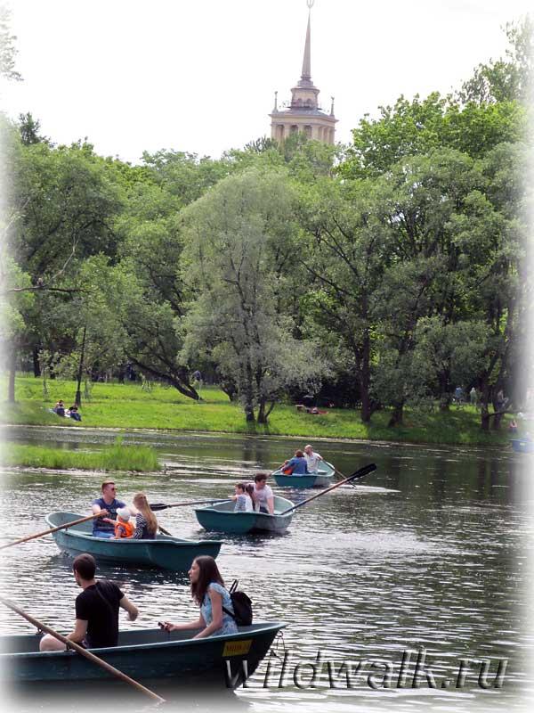 парки санкт-петербурга лодка